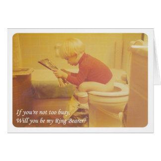 Be my Ring bearer! - FUNNY Greeting Cards