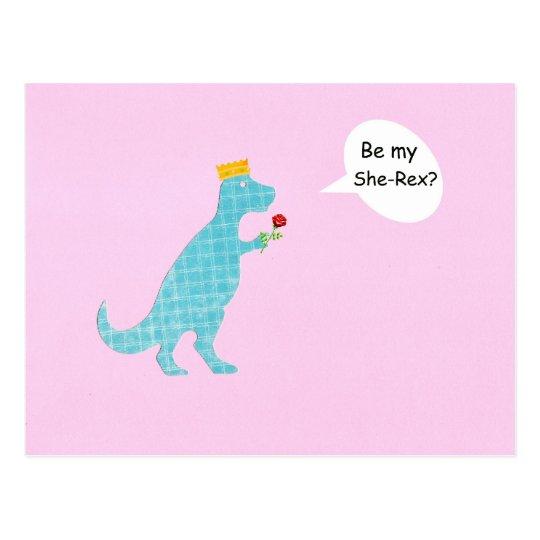 Be my She-Rex? Postcard