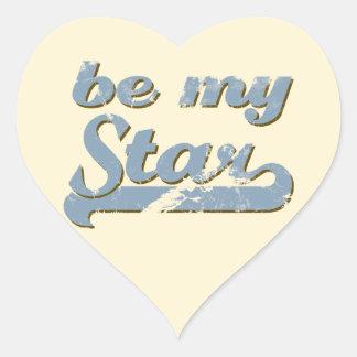 Be my Star Heart Sticker