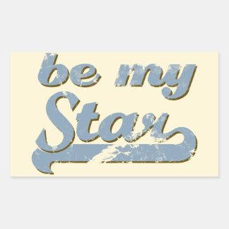 Be my Star Rectangular Sticker