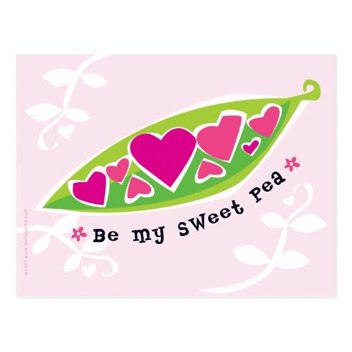 Be My Sweet Pea Valentine Postcard