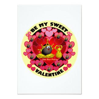 Be My Sweet Valentine 5x7 Paper Invitation Card