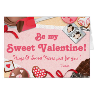 Be my Sweet Valentine hug & KIS just for you Card