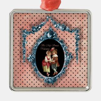 Be My Sweet Valentine Metal Ornament