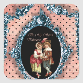 Be My Sweet Valentine Square Sticker