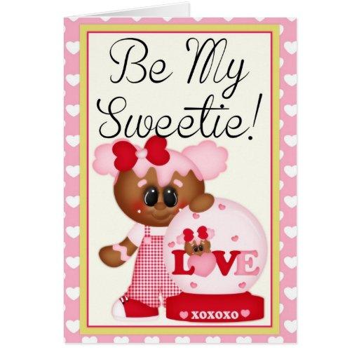 Be My Sweetie Cookie Girl Valentine Card 2