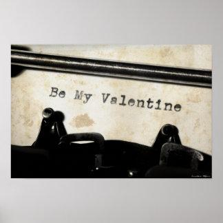 Be My Valentine Artwork Poster
