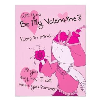 Be My Valentine (Aya) - Pack of Valentines 4.25x5.5 Paper Invitation Card
