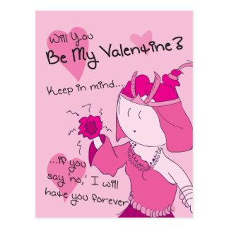 Be My Valentine? - Aya valentine Postcard
