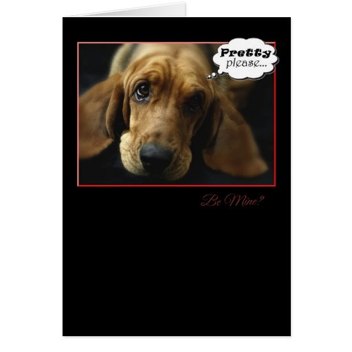Be My Valentine Basset Hound Card