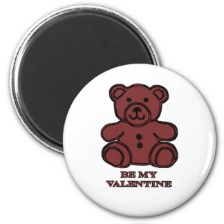Be My Valentine Bear Brown The MUSEUM Zazzle Gifts 2 Inch Round Magnet