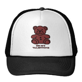 Be My Valentine Bear Brown The MUSEUM Zazzle Gifts Trucker Hat