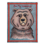 Be My Valentine Bear Postcard