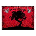 Be My Valentine Bonsai Tree of Love Greeting Cards