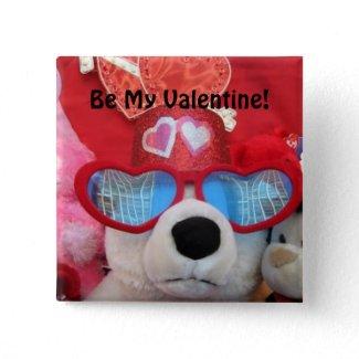 Be My Valentine Button button