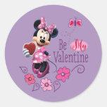 Be My Valentine Classic Round Sticker
