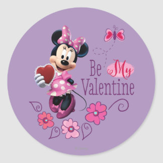 Be My Valentine Classic Round Sticker