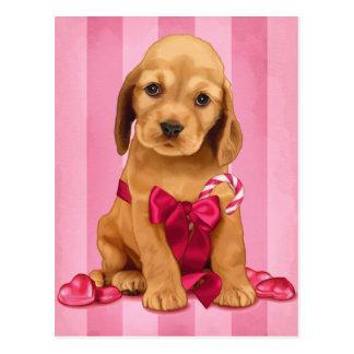 Be My Valentine Cocker Spaniel Postcard