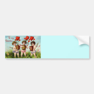 Be My Valentine Cupid Bumper Sticker