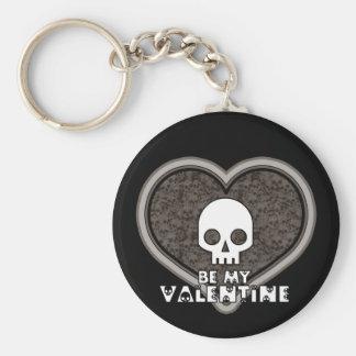 Be My Valentine Cute Punk Skull Keychain