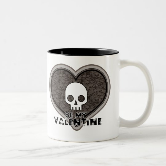 Be My Valentine Cute Punk Skull Mug