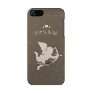 Be my Valentine cute romantic cupid with hearts Metallic iPhone SE/5/5s Case