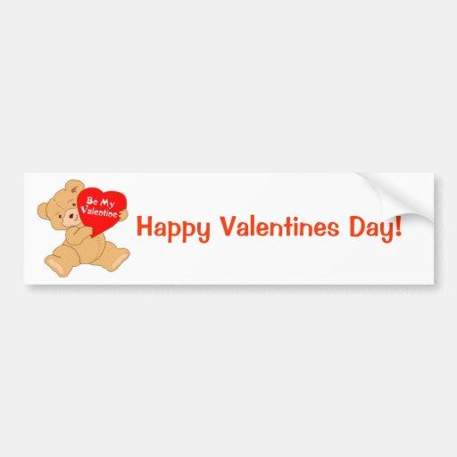 Be My Valentine - Designer Bumper Sticker