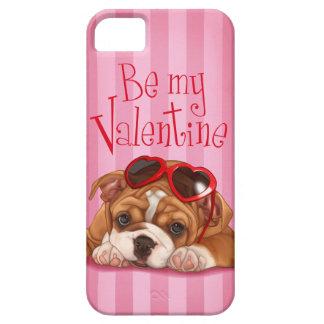 Be my Valentine English Bulldog Puppy iPhone SE/5/5s Case