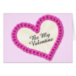 Be My Valentine Flowers Greeting Cards