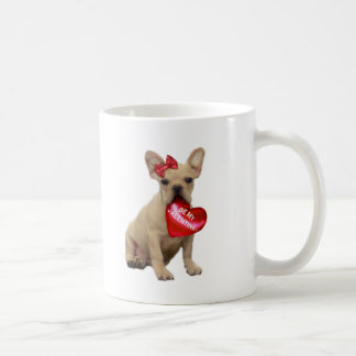Be My Valentine French bulldog mug