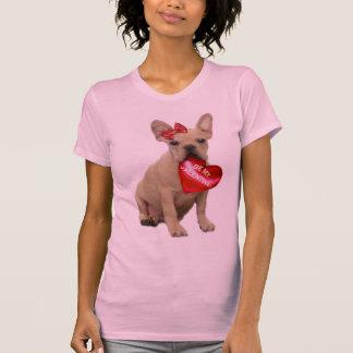 Be My Valentine French Bulldog T-shirt