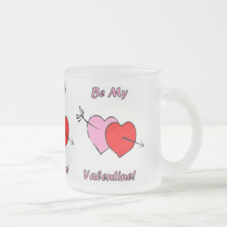 Be My Valentine Frosted Glass Coffee Mug