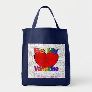 Be My Valentine - Get Lost Grocery Tote Bag
