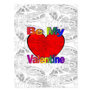 Be My Valentine - Get Lost Postcard
