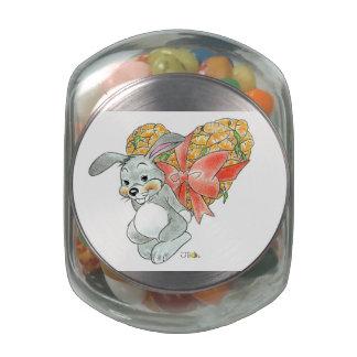 Be my valentine glass candy jars