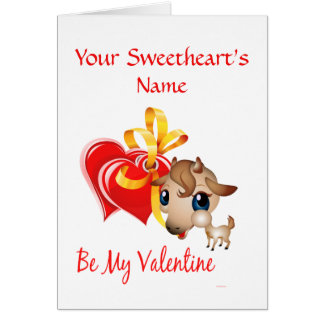 Be My Valentine Goat Card