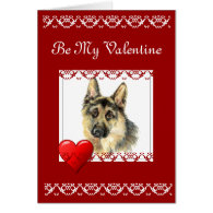 Be my Valentine Grow Old with Me Quote Dog Greeting Card