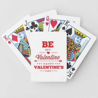 Be My Valentine – Happy Valentine's Day Bicycle Playing Cards