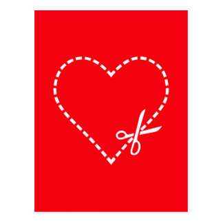 Be My Valentine Have My Heart on Red Postcard