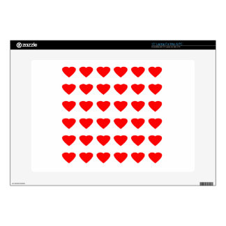 Be My Valentine Hearts 36Red Transp  jGibney Decal For Laptop