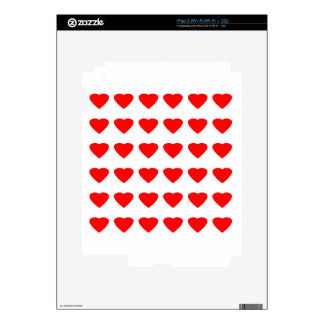 Be My Valentine Hearts 36Red Transp  jGibney Decal For The iPad 2