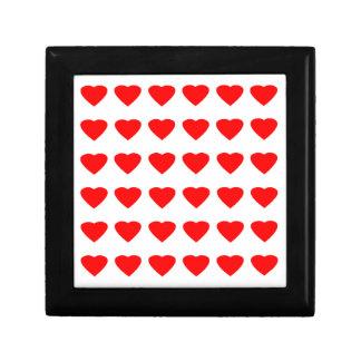 Be My Valentine Hearts 36Red Transp  jGibney Gift Box