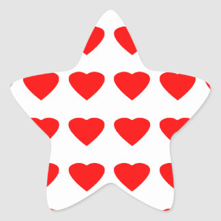 Be My Valentine Hearts 36Red Transp  jGibney Star Sticker