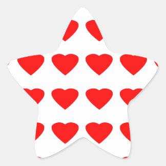 Be My Valentine Hearts 36Red Transp  jGibney Star Sticker