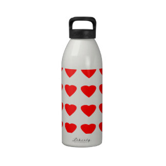 Be My Valentine Hearts 36Red Transp  jGibney Reusable Water Bottles