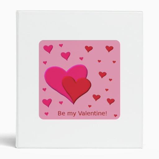 Be My Valentine Hearts Vinyl Binders