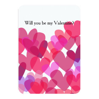 Be My Valentine Hearts Card