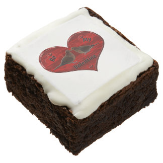 Be My Valentine Kissing Doves Brownie