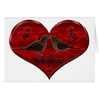 Be My Valentine Kissing Doves Card