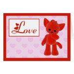 Be My Valentine Kitty Cat Card